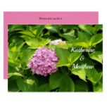 Pink Hydrangea 40 Wedding Invitation
