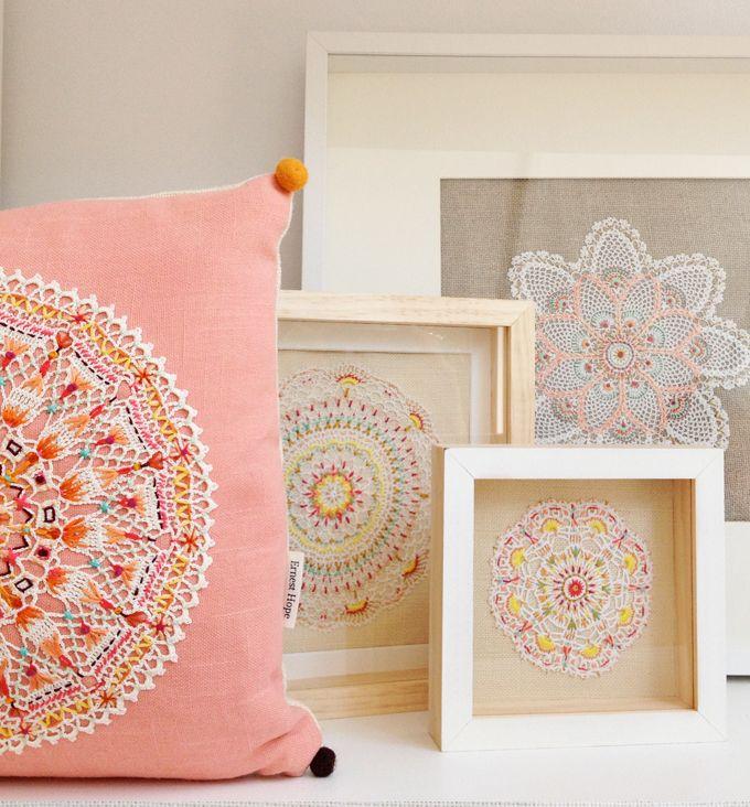 Ernest Hope - Framed Embroideries