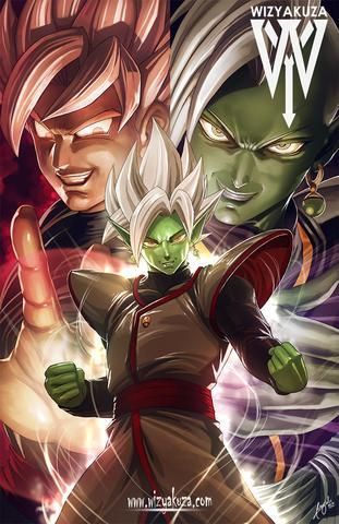 Zamasu and black Goku by wizyakuza