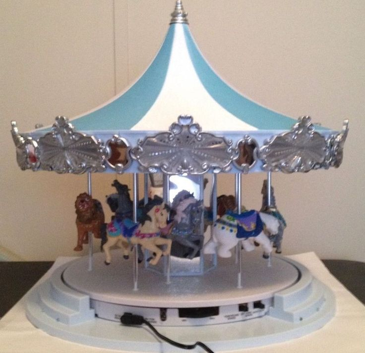 Mr. Christmas 2016 Frosted Carousel Music Box #MrChristmas
