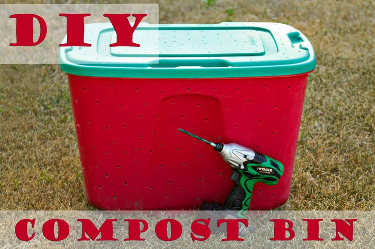 How to make an easy compost bin from an old storage tote | Tutorial from Blissfully Domestic blog
