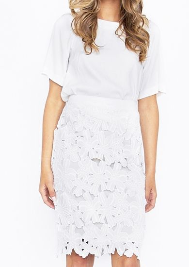 large floral cutout pencil skirt. fully lined. ships free. #fashion #skirts #summer #ootd