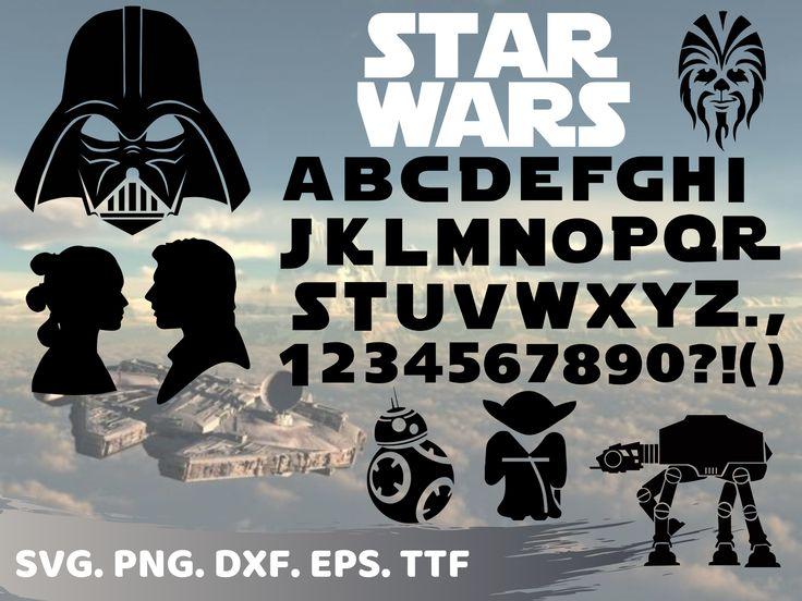 Star wars svg font, star wars ttf, star wars