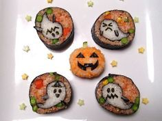 "Happy Halloween! These rolls are ""scary"" delicious looking. Yummm! http://www.osakasushilanghorne.com/"