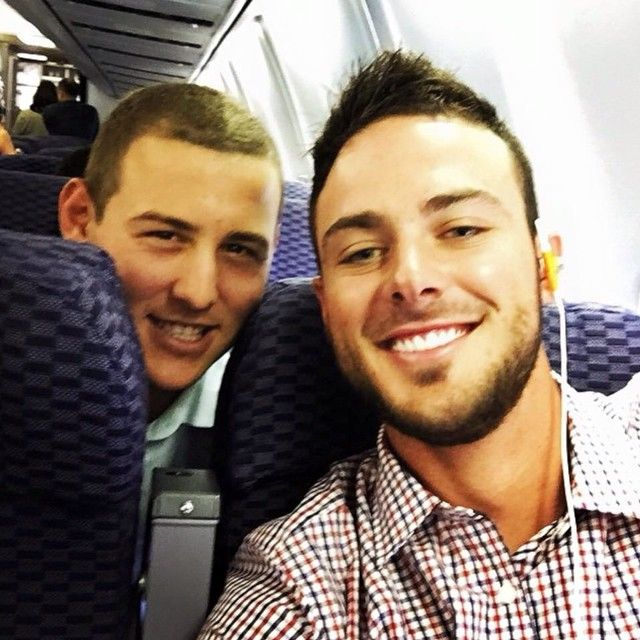 Recently discovered this hottie, Kris Bryant (one on the right) Chicago Cubs player. Buttt I'm still loyal to Hosmer!