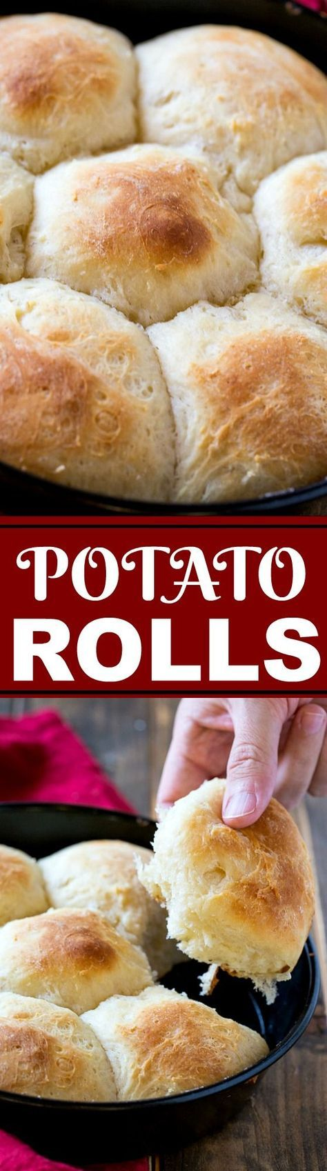 These Potato Rolls are made from leftover mashed potatoes.