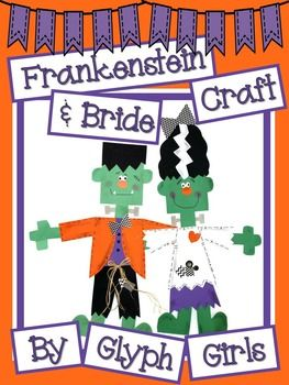 frankenstein and bride craft glyphsfrankensteinfall craftshalloween - Halloween Glyphs