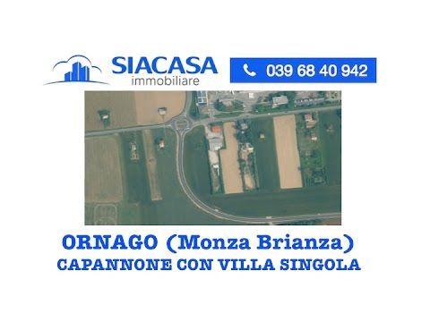 Capannone con Villa Singola in Vendita nel Comune di Ornago (Monza Brian...