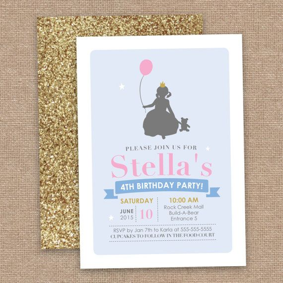 Girl Build A Bear Birthday Invitation by JessicasInvites on Etsy