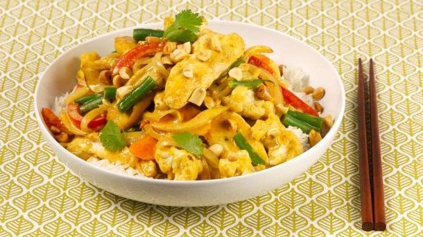 ... why you need this. Peanut, Chicken and Cauliflower Curry Stir-Fry