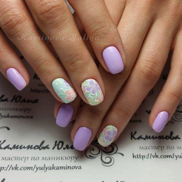 Фото маникюра 2016, дизайн ногтей со стразами, модный маникюр с вензелями 2016, красивые узоры на ногтях, стразы на ногтях лето 2016, модный летний маникюр
