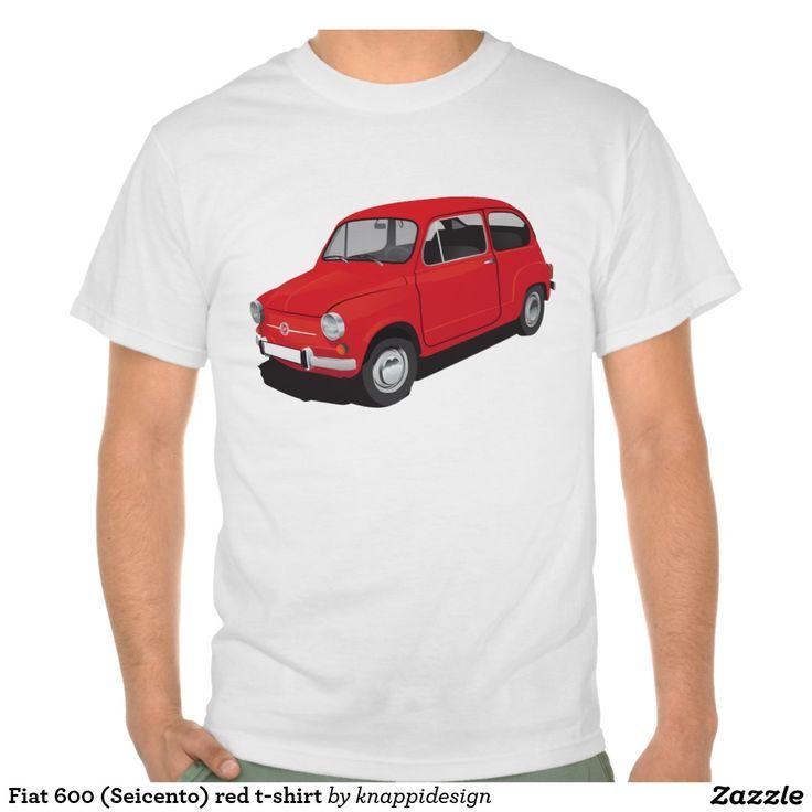 Fiat 600 (Seicento) red t-shirt  Fiat 600 (Seicento) black t-shirt  #fiat #fiat600 #seicento #tshirt #tshirts #tpaita #troja #skjorta #italy #automobile #bilar #auto #classic #vintage
