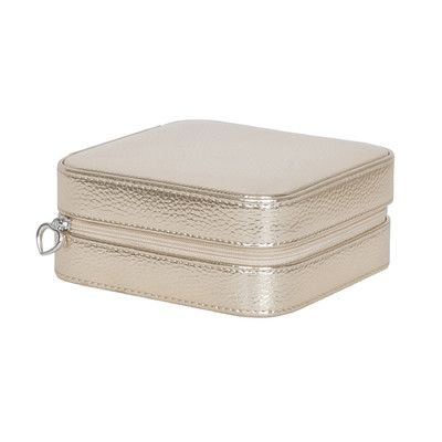 Mele & Co. Luna Travel Metallic Faux Leather Jewelry Case Color: Gold