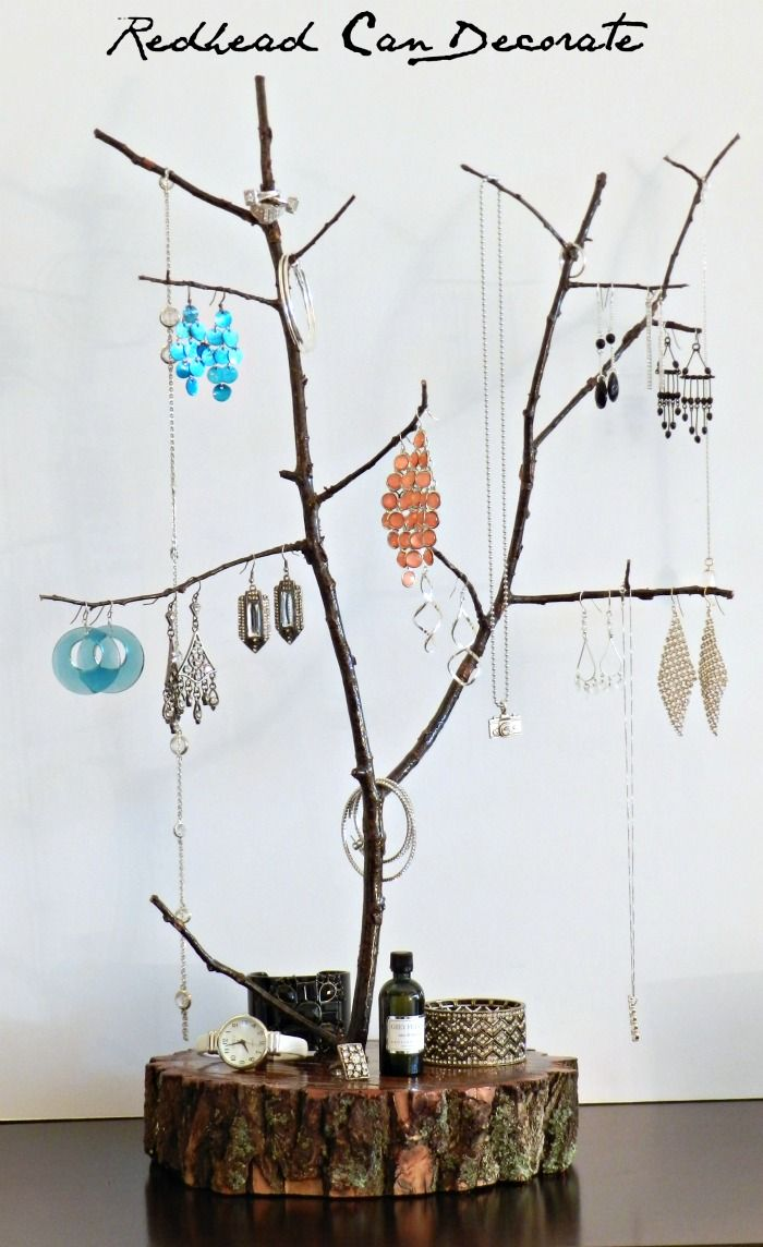 Tree Branch Jewelry Stand - Redhead Can Decorate
