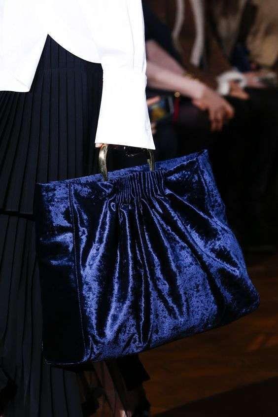 Borse in velluto Autunno Inverno 2016-2017 - Handbag velluto blu Stella McCartney