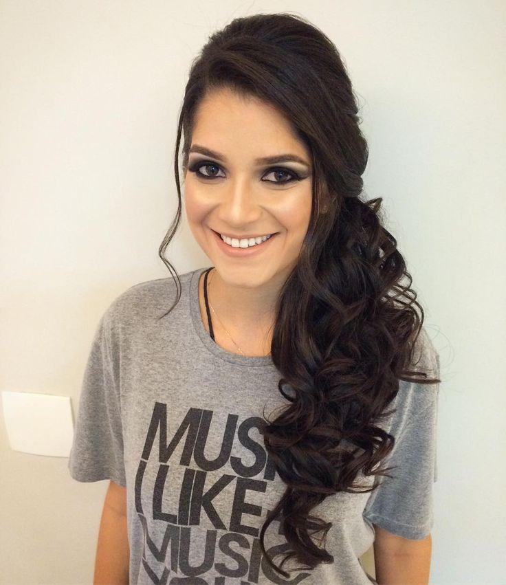 Penteado lateral! #hairdo #hairstyle #penteado #bride #noiva #formanda #formatura #daniloborgesss ...