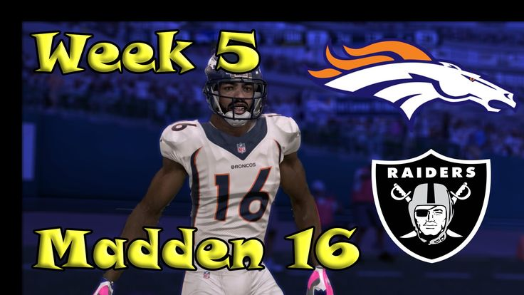 Madden 16 Broncos vs Raiders Connected Franchise Week 5