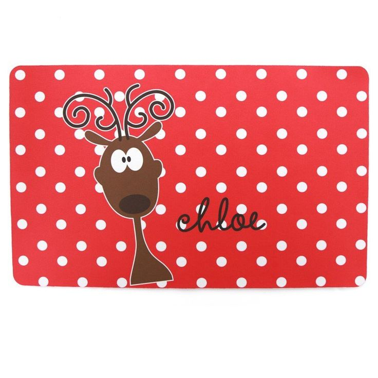 Reindeer Personalized Placemat