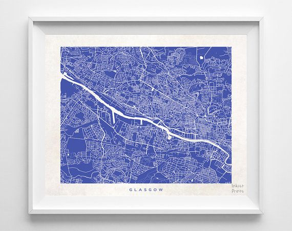 #Glasgow #Scotland #UnitedKingdom #UK #Print #Map #Poster #State #City #Street  #Map #Art #Decor #Town #Illustration #Room #WallArt #Customize #Bedroom #Livingroom #GiftIdea #Gift #Christmas #ChristmasGift #BirthdayGift #Birthday #Dorm #Country #Home #Decoration #Inkistprints