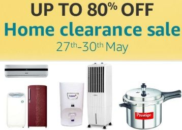 80% OFF Amazon Home Clearance Sale-27th-30th May 17 @ amazon.in