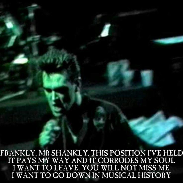 The Smiths Frankly Mr Shankly