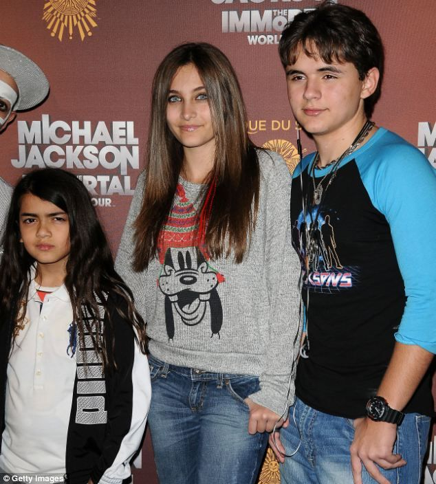 Caught up: Michael Jackson's three children Blanket, Paris and Prince Michael have had a difficult relationship with their aunts and uncles ...