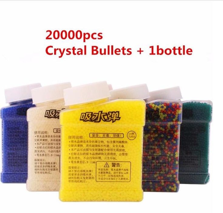 20000Pcs &1 Bottle Color Crystal Paintball Bullet Water Soft Bullets Nerf Gun Toy Gun Accessories Crystal Mud Soil Orbeez Ball