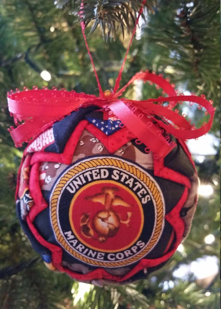 US Marine Core Quilted Ornament by MachartHome on Etsy