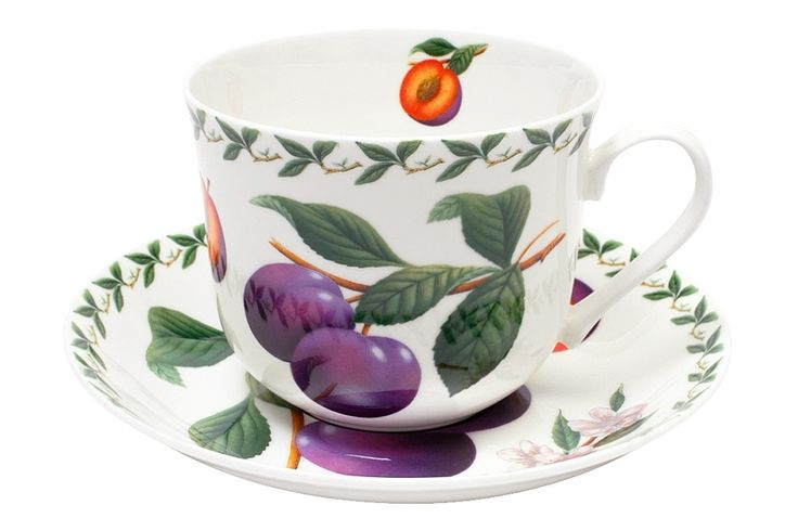 Чашка с блюдцем из костяного фарфора «Слива» в подарочной упаковке      Бренд: Maxwell & Williams (Австралия);   Страна производства: Китай;   Материал: костяной фарфор;   Объем чашки: 480 мл;          #bonechine #chine #diningset #teaset #костяной #фарфор #обеденный #сервиз #посуда  #обеденныйсервиз #чайныйсервиз #чайный  #чашка #кружка #набор #сервировка #cup #mug #set #serving #tea #чай