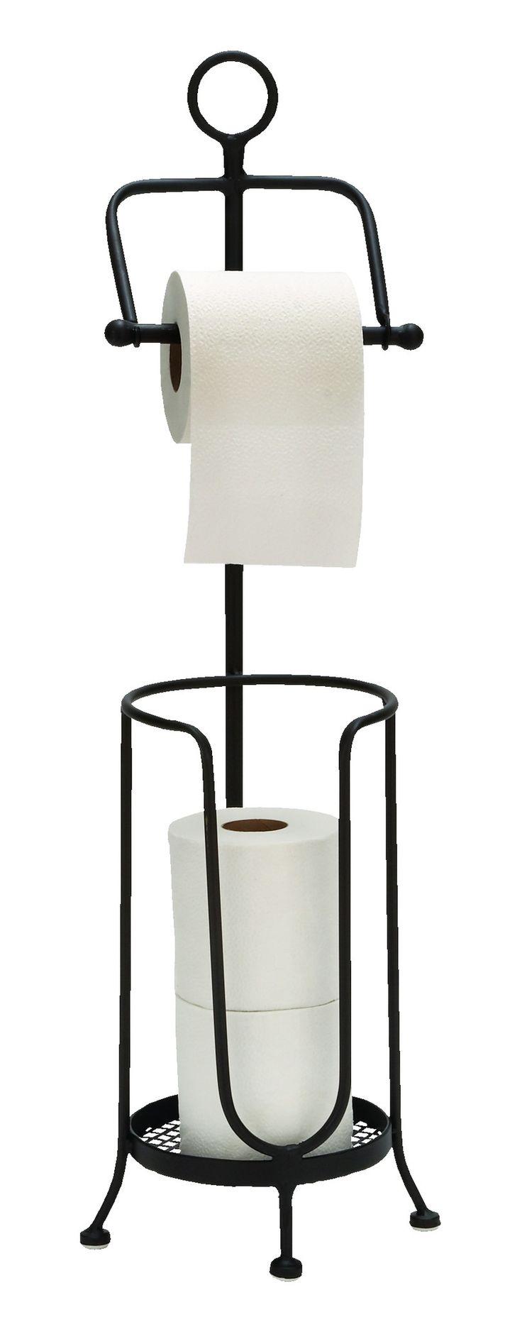 Metal Toilet Paper Holder Floor Bath Room Decor
