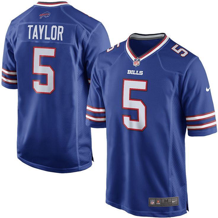 Nike Tyrod Taylor Buffalo Bills Royal Game Jersey