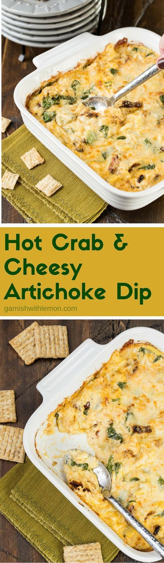 Hot And Cheesy Crab And Artichoke Dip Recipe — Dishmaps