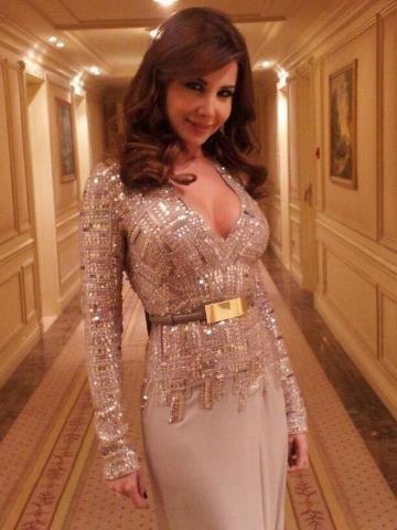 Nancy Ajram wearing Elie Saab