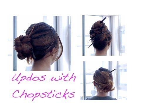 190 best braids buns up dos images on pinterest hair dos updo tutorial chopstick definitely going to do this when im studying and only have a pencil to put up my hair solutioingenieria Choice Image