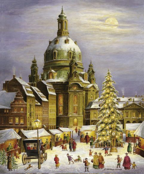 Advent Calendar from Bruck and Sohn of Meissen of Dresden Christmas market - Dresden was the first Christmas market in Germany.  $10.49. Available at www.mygrowingtraditions.com