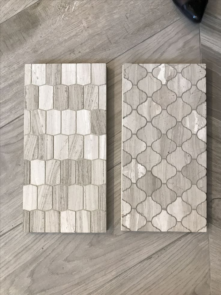 Ann Sacks cream hive stone for 1st floor bathroom floor and feature shelving