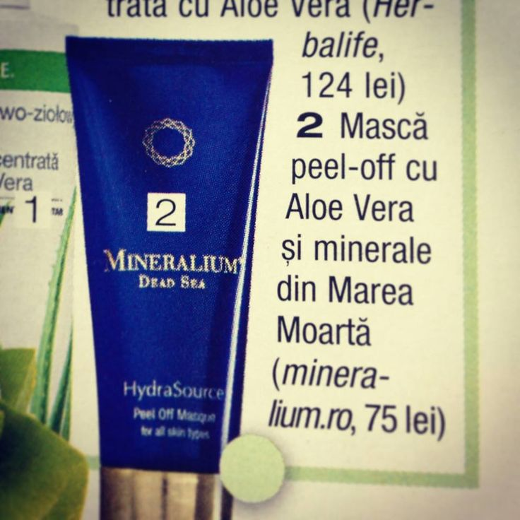 Iti doresti o piele hidratata si catifelata? Revista Joy recomanda Masca peel-off cu Aloe Vera si minerale din Marea Moarta!