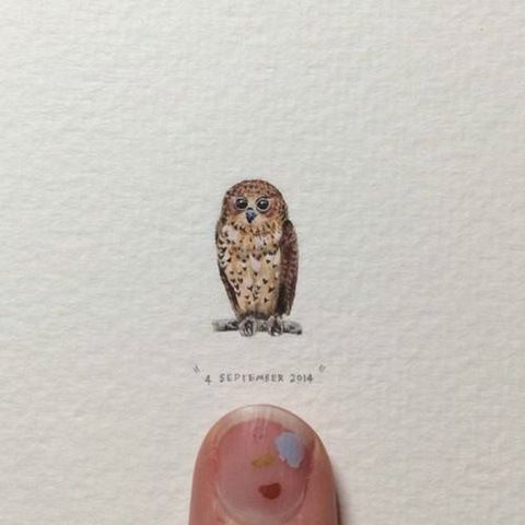 Best LORRAINE LOOTS Images On Pinterest Drawing Miniature - Artist creates miniature paintings everyday entire year