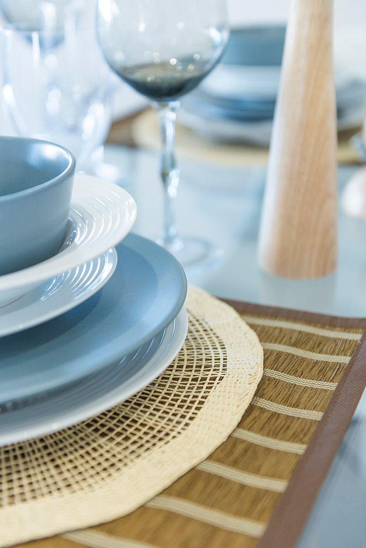 This #table #setting is from Ausbuild's Denham display home. This setting is inspired by rich Mediterranean hues. www.ausbuild.com.au.