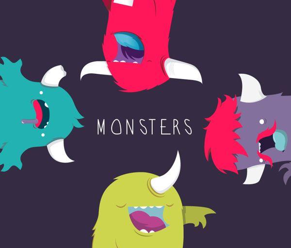 MONSTERSSS!!! by AARON MARTINEZ, via Behance