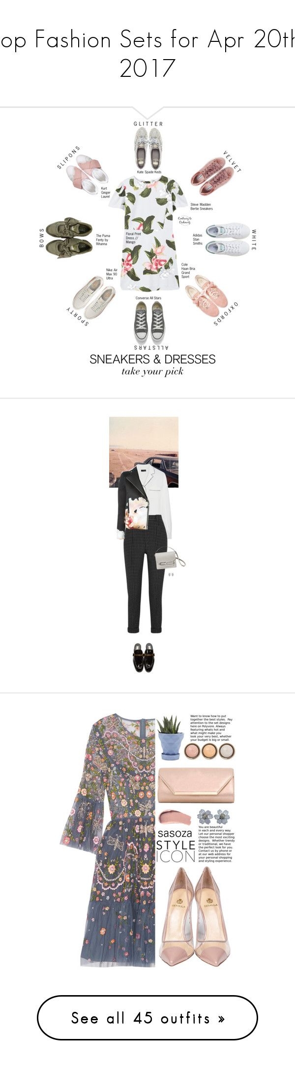 """""""Top Fashion Sets for Apr 20th, 2017"""" by polyvore ❤ liked on Polyvore featuring MANGO, Converse, adidas, Kate Spade, Steve Madden, NIKE, Cole Haan, Puma, Kurt Geiger and sneakers"""