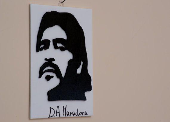 Quadro Maradona lavorato al traforo di FantasieArtigianali