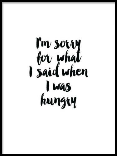 Hungry, plakat i gruppen Plakater og posters / Størrelser / 30x40cm hos Desenio AB (8185)