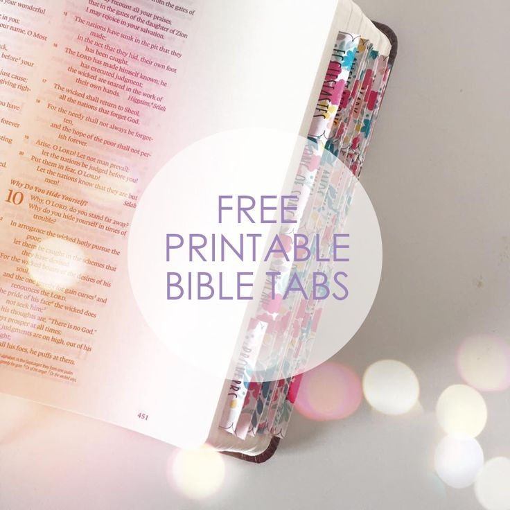 A Journaling Bible Giveaway + FREE Printable Bible Tabs   Our Holly Days