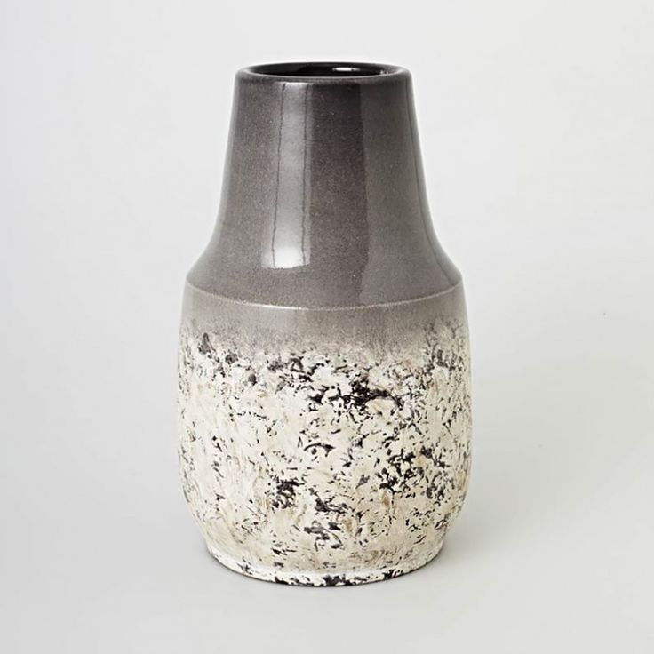 Spell High Vase - Charcoal