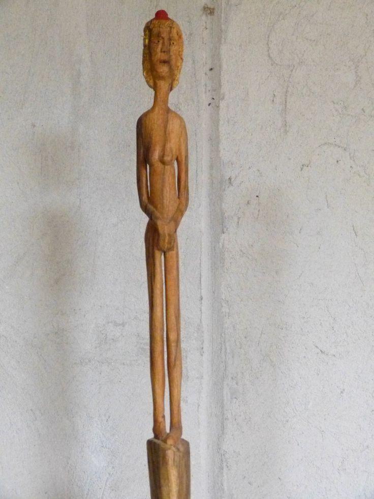 Reddy, a long small statue, 36x5x4, acacia, 2013