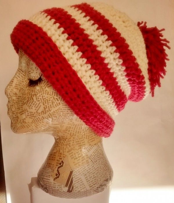 Crochet Beanie Pattern Striped : 1000+ images about Crochet Hats on Pinterest Crochet ...