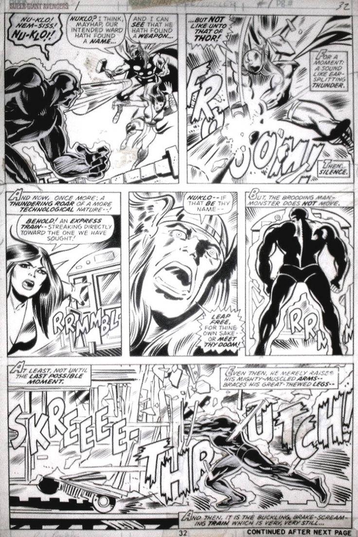 Rich Buckler - Avengers Ann.#1 Comic Art