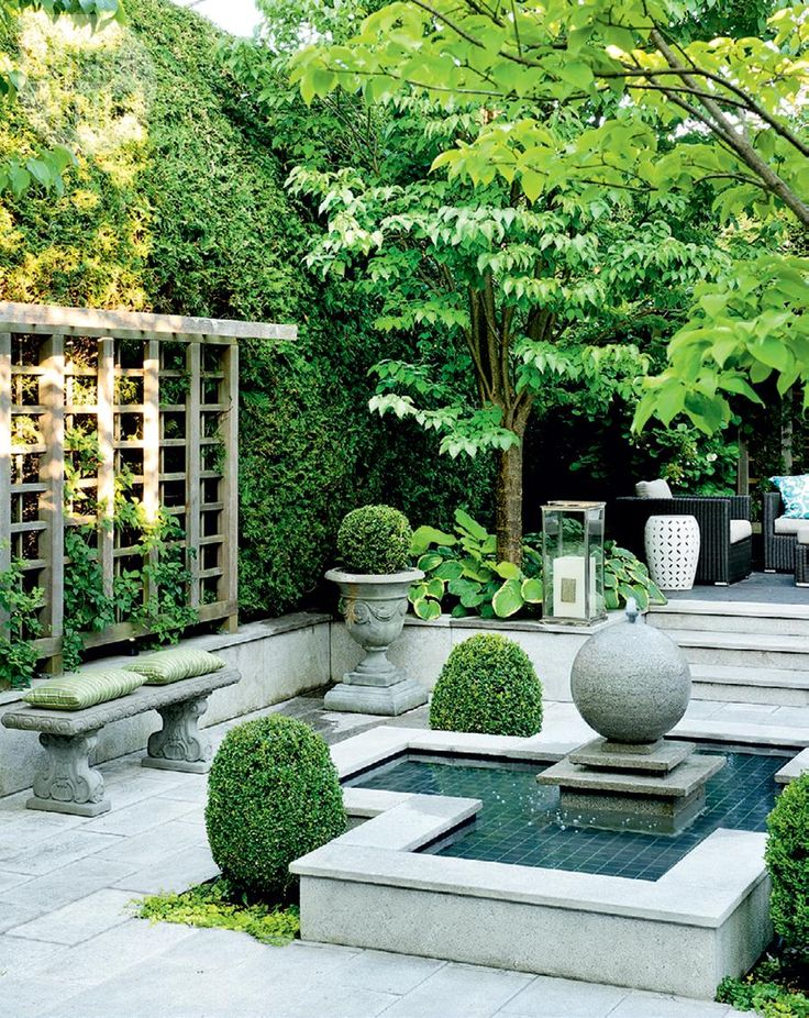 336 best images about courtyard landscaping on pinterest for Courtyard landscaping