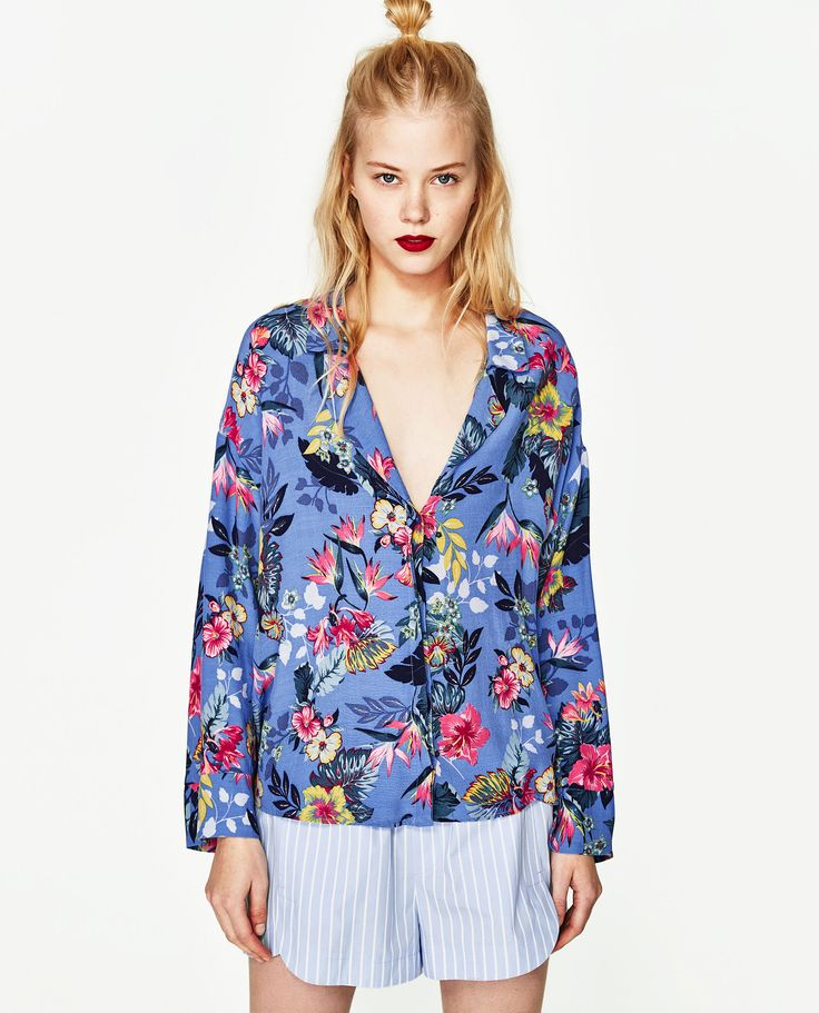 ZARA BLUE PRINTED SHIRT